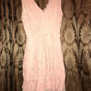 Pink laced dress